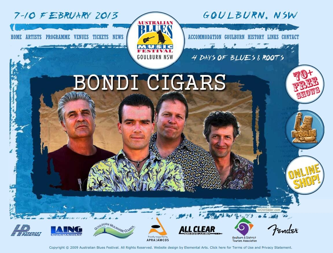 Bond Cigars to play at the Australian Blues Music Festival